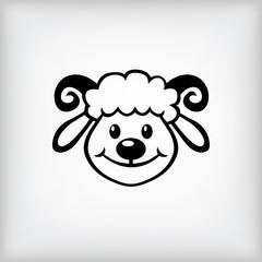 Cheerful lamb symbol 2015 year