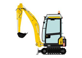 Compact excavator.
