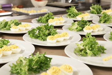 eggs and salad on plate
