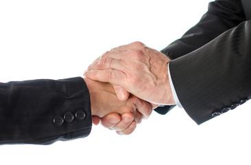 Friendly business handshake