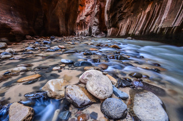 Fotobehang Natuur Park The Narrows Zion National Park