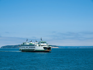 The Ferry at Mukilteo in Washington State USA
