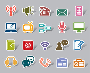 Communication Color Icon Label