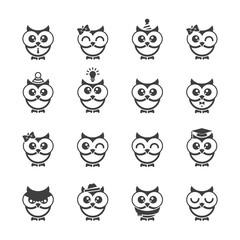 Owl icons set.