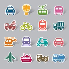 Transportation Color Icon Label