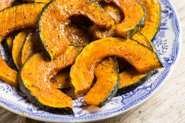 Roasted slices of pumpkin - zucca al forno