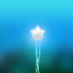 abstract background / blue green wallpaper star illustration
