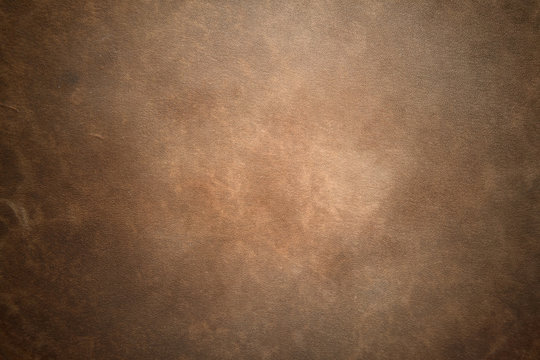 Old vintage brown leather background