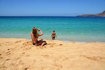 fotografiando en la playa