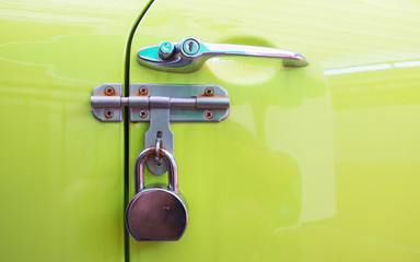 car door handle color metal lock,security protection padlock