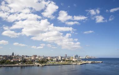 Clouds over the Havana Bay in Cuba