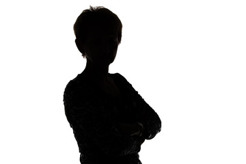 Image of silhouette adult woman