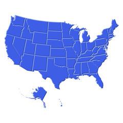 USA map celeste