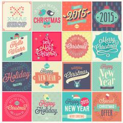 Wall Mural - Christmas set