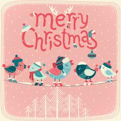 Wall Mural - Christmas card.