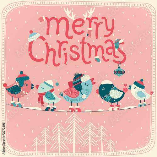 Wall mural Christmas card.
