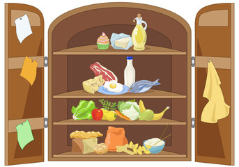 Kitchen Cabinet  with Food Pyramid