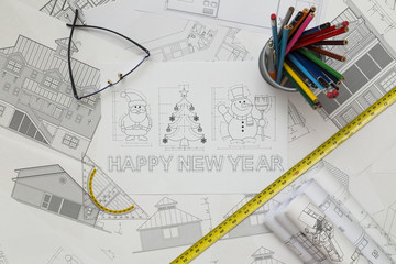 New Year Symbols Blueprint