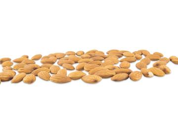 Strip spilled almonds