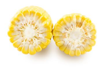 Slice two ears of corn