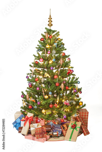 Christmas Tree With Presents Stock Photo And Royalty Free Images On
