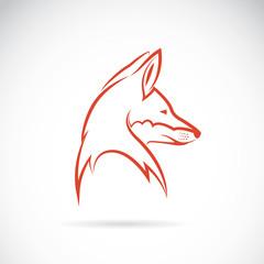 Vector image of an fox head