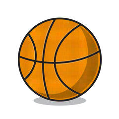 Basketball ball isolated on white.
