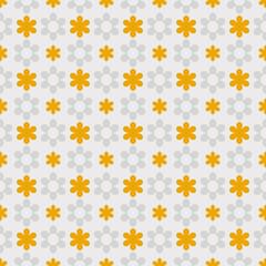 Vector Background #Polka Dot Pattern, Yellow Flower