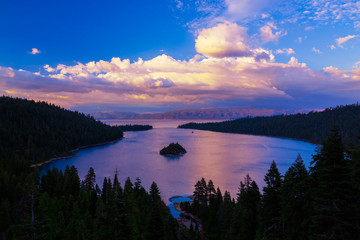 Wall Mural - Emerald Bay sunset, Lake Tahoe