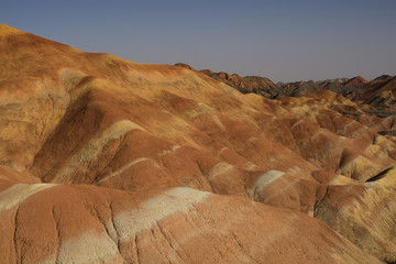 Recess Fitting Panorama Photos Danxia landform in Zhangye, China