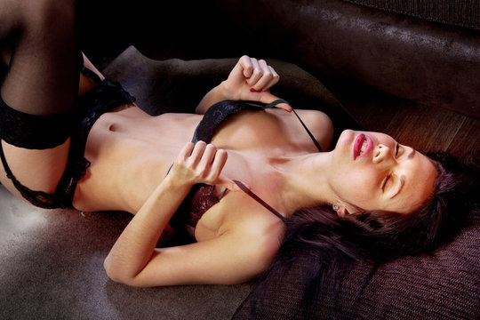 girl taking pleasure