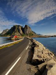 Wall Mural - Norwegia ,Lofoty,   krajobraz wiejski