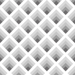 Seamless geometric pattern of rhombuses gray tones