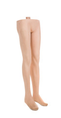 Close up of mannequin male legs.