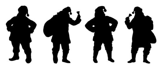 santa silhouettes