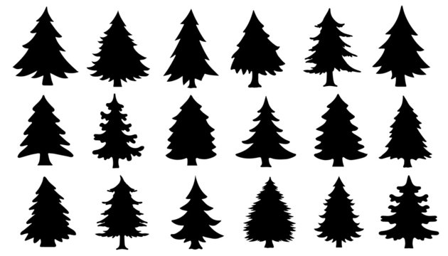 chritmas tree silhouettes