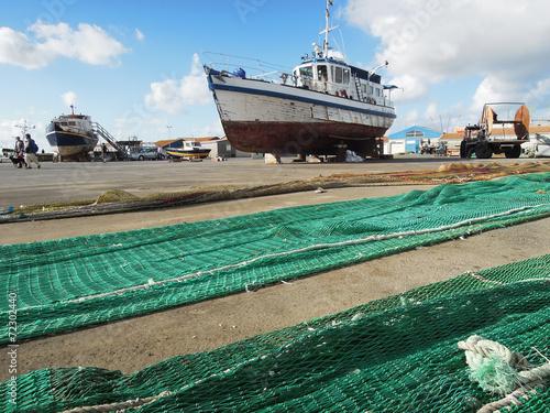 Ile D Oleron Port La Cotiniere Bateau Peche Filets 4 Stock Photo