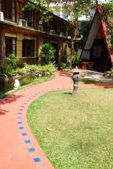 walkway in garden and hometown
