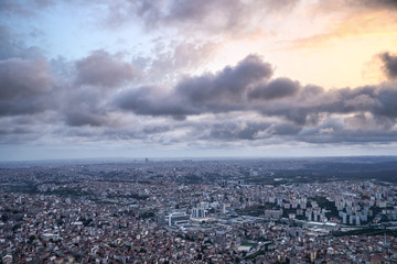 panorama view of the city