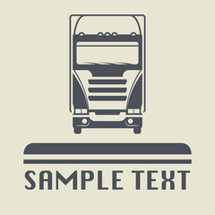 Truck icon or sign