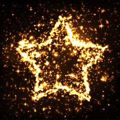 Stern, glitzernd, funkelnd, leuchtend, brennend, Star, burning