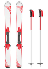 skis mountain vector illustration