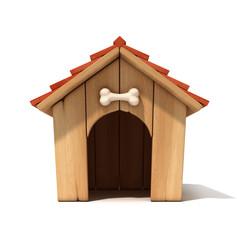 dog house 3d illustration