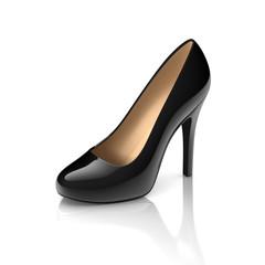 black high heel shoe 3d