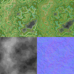 Layered stone seamless generated texture (with diffuse, bump and