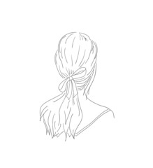 woman hairstyle view from back
