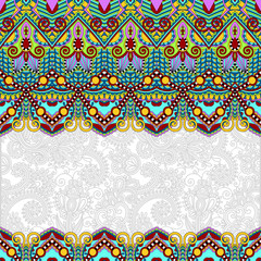 ornamental floral folkloric background for invitation, cover des