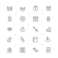 Business and Advertising icons set