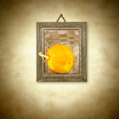 Pumpkin, photo hanging on the wal