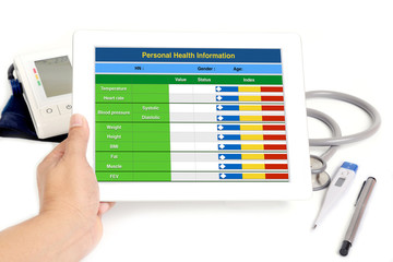 Wall Mural - Electronic health information.